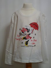 Minnie Mouse Long Sleeved T-Shirt - White - Age 8 years