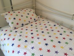 Duvet Set, Rainbow Star - Single Bed