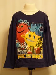 PACMAN Long Sleeved T-Shirt - Dark Blue - Age 4 years