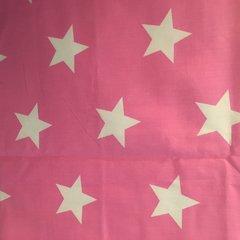 Curtains, Pink Star - Standard Width, Standard Length (135cm x 137cm)