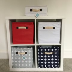 Oilcloth Storage Cubes - Red