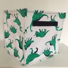 Canvas Storage Cube - Dinosaur