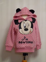 Minnie Mouse Hooded Sweatshirt - Pink - Age 3 years