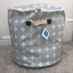 Oilcloth Storage Tubs - Grey