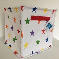 Canvas Storage Cube - Rainbow Star