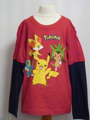 Pokemon Long Sleeved T-Shirt - Red - Age 8 years