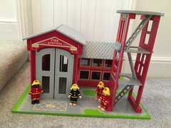 Big Jigs Fire Station and 4 Firefighters