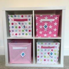 Canvas Storage Cube - Pink
