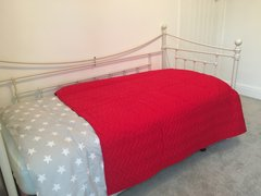 Quilted Bed Cover - Red