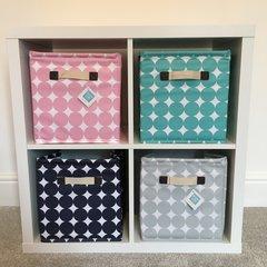 Oilcloth Storage Cubes - Pink