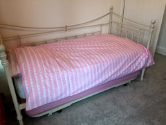 Duvet Set, Pink Scallop - Toddler Bed / Cot Bed