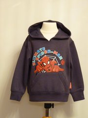 Spider Man Hooded Sweatshirt - Dark Grey - Age 8 years