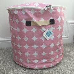 Oilcloth Storage Tubs - Pink