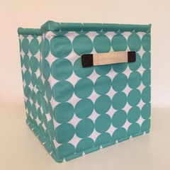 Oilcloth Storage Cubes - Turquoise