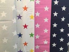 Curtains, Navy Star - Standard Width, Long Length (135cm x 183cm)