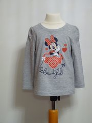 Minnie Mouse Long Sleeved T-Shirt - Grey - Age 4 years