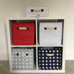 Oilcloth Storage Cubes - White