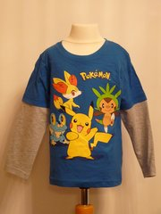 Pokemon Long Sleeved T-Shirt - Blue - Age 4 years