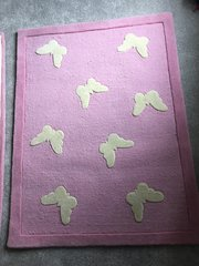 Pink Butterfly Rug - Medium (90cm x 120cm)