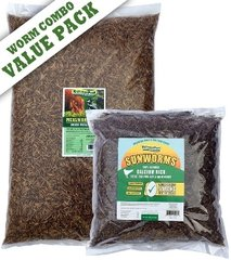 VALUE PACK / 11lb Mealworms + 5 lbs Sunworms,