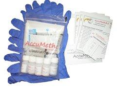 AccuMeth®5 Discrete, Onsite Meth Test Kit; Pack of 5 - Sample 1 Surface for Meth, 0.5 ug/100cm2 target