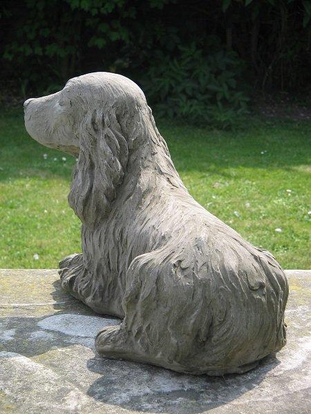 cocker spaniel dog statue