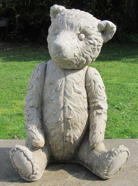 Large Mother Teddy Bear Statue Surrey Ornamental Stoneware