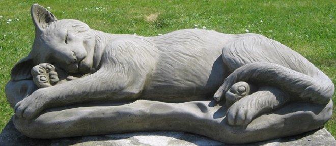 Surrey ornamental stoneware sleeping cat workwithnaturefo