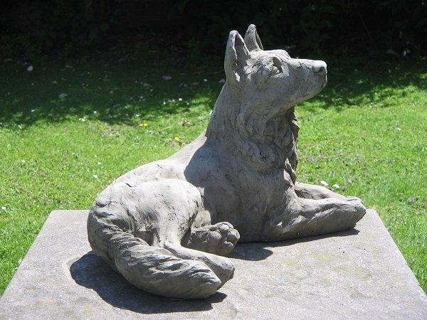 German Shepherd Dog Statue | Surrey Ornamental Stoneware