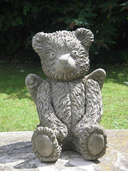 Angel Teddy Bear Statue | Surrey Ornamental Stoneware
