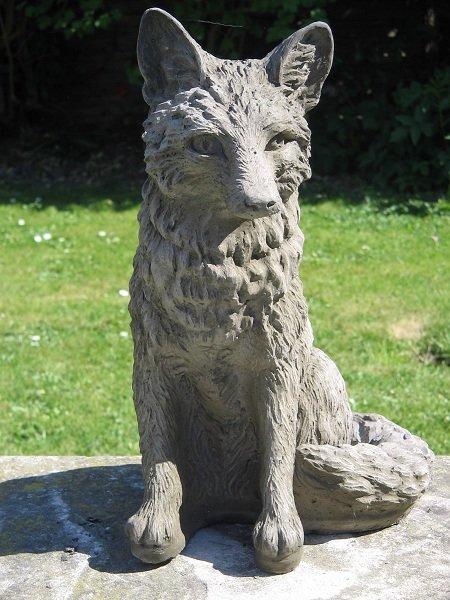 Fox garden statue surrey ornamental stoneware fox garden statue workwithnaturefo