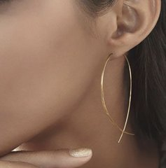 Crossover Gold Hoops