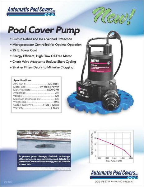 Wayne Pool Cover Pump 1/4 HP