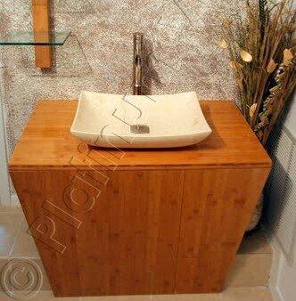 bathroom bamboo vanity for vessel sink modern contemporary