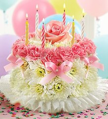 Birthday Flower Cake- bir03