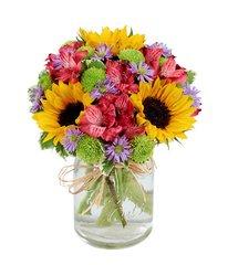 Flower Fields Mason Jar - get01