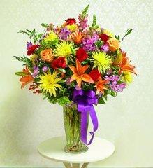 Colorful Sympathy Vase - hom04