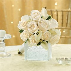 ALL WHITE BRIDESMAID BOUQUET -wed07