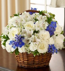 Peace, Prayers & Blessings - Blue and White - hom05