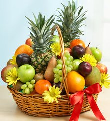 Deluxe All Fruit Basket - fru07