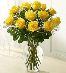 Premium Long Stem Yellow Roses- lov13