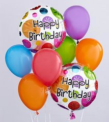 Birthday Balloon Bunch - plu08