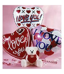 I Love You Teddy Bear & Balloons - ros30