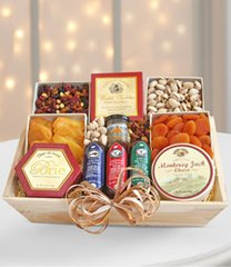 Meat & Cheese Wooden Gift Crate - Better - can27