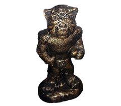 Bronze Style Bulldog Football Player Cast Stone Art Sculpture