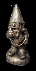 Biker Gnome Bronze Style Cast Stone Biker Gnome Art Sculpture