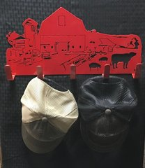 Red Barn Metal Hat Holder