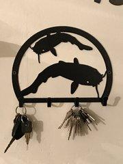 Catfish Metal Key Holder