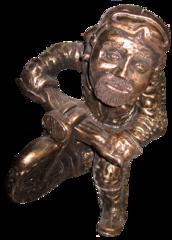 Bronze Old Skool Bronze Style cast stone OLD Skool Biker art sculpture