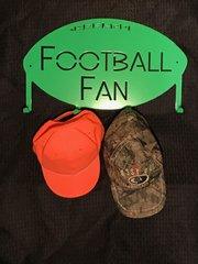 Football Fan Metal Hat Holder